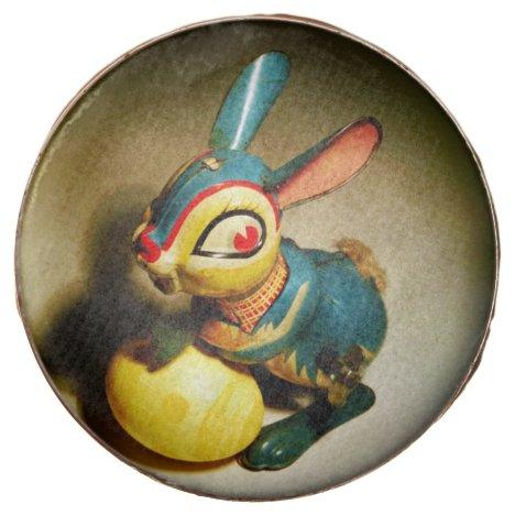 Tin toy Easter Bunny Rabbit Chocolate Dipped Oreo