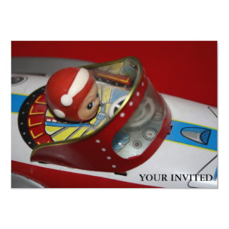 Tin Toy Rocket/Space Ship  YOUR INVITED Invitation