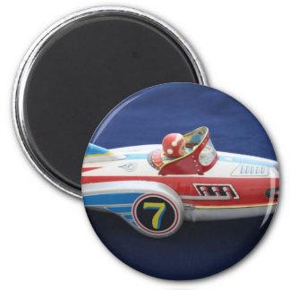 Tin Toy Space/Rocket Ship Magnet
