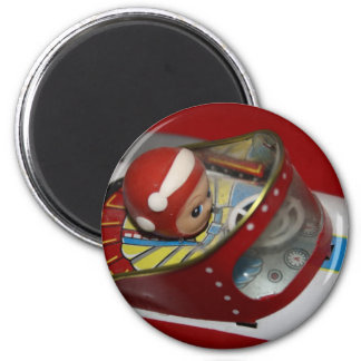 Tin Toy Space/Rocket Ship Magnets