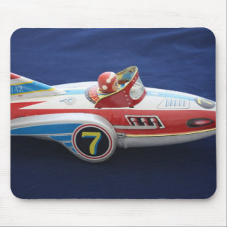 Tin Toy Space/Rocket Ship Mouse Pad