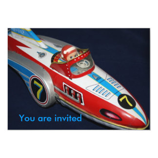Tin Toy Space/Rocket Ship You are invited Card
