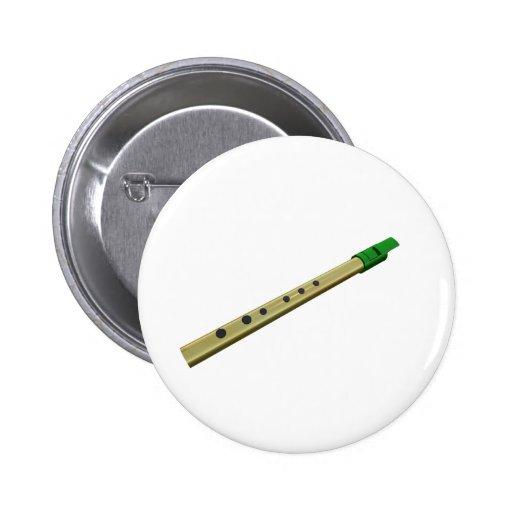 Tin Whistle Button Badge