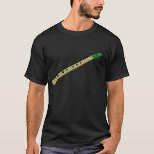 Tin Whistle Dark T Shirt at Zazzle