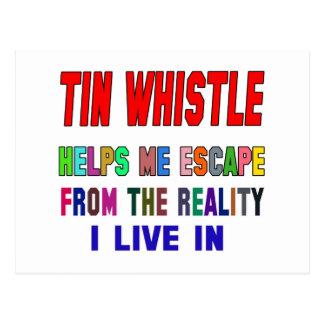 Tin whistle Helps Me Postcard