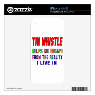 Tin whistle Helps Me iPhone 4S Decal