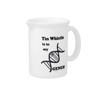 Tin Whistle in my Genes Beverage Pitchers