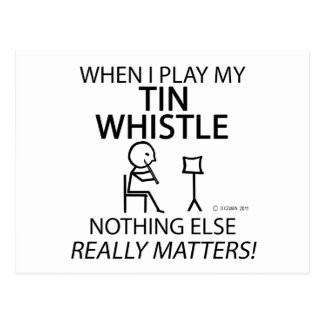 Tin Whistle Nothing Else Matters Postcard