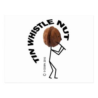 Tin Whistle Nut Postcard
