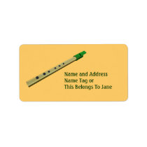 Tin Whistle On A Name Gift Tag Bookplate Personalized Address  Labels at Zazzle