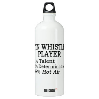 Tin Whistle Player Hot Air Aluminum Water Bottle
