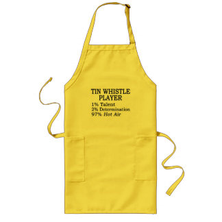 Tin Whistle Player Hot Air Long Apron