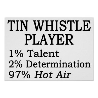 Tin Whistle Player Hot Air Poster
