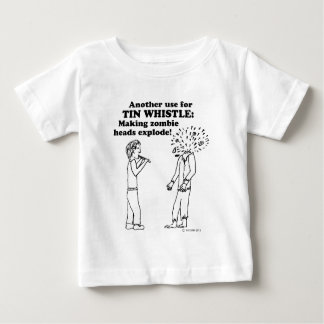 Tin Whistle Zombie Explode Baby T-Shirt