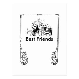 Tin Woodman And Scarecrow, Best Friends Postcard