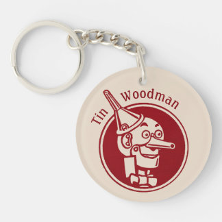 Tin Woodman (Tin Man) Face CC0900 Wonderful Wizard Keychain