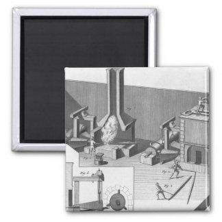 Tin workshop, engraved by Benard, Robert Magnet