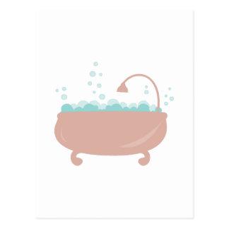 Tina de baño postal