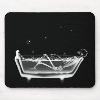 Tina esquelética del tiempo del baño de la radiogr tapete de ratones