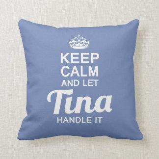 Tina handle it! throw pillow