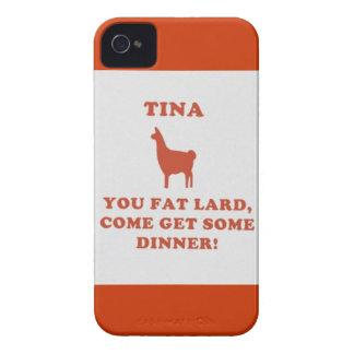 ¡Tina usted manteca de cerdo gorda! Case-Mate iPhone 4 Cárcasas
