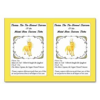 Tinam The Tin-Horned Unicorn Trading Card-