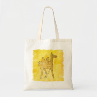 Tinca's Drawings. Childish Watercolor with Camel Tote Bag