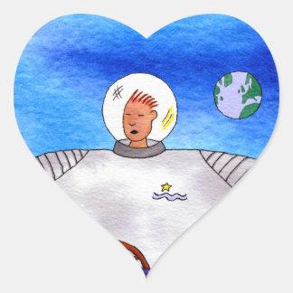 TinCan SpaceMan Heart Stickers