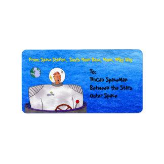 TinCan SpaceMan Label