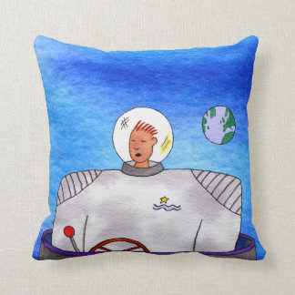 TinCan SpaceMan Suspended Animation Sq Pillow
