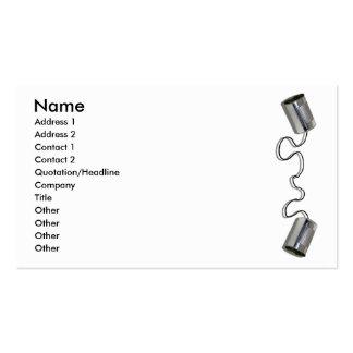 TinCansStringCard, nombre, dirección 1, dirección Tarjetas De Visita