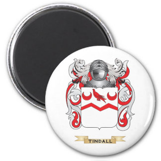 Tindall Family Crest (Coat of Arms) 2 Inch Round Magnet