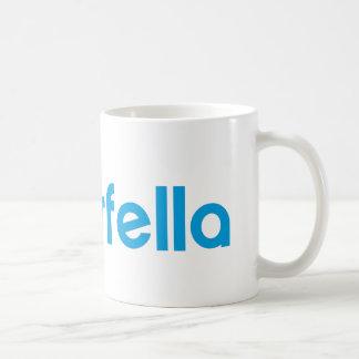 Tinderfella with big text coffee mug