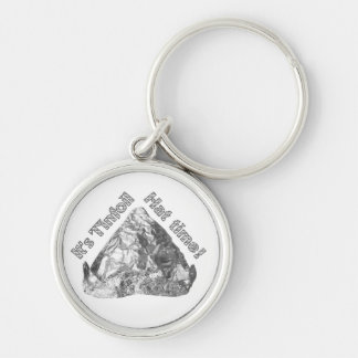 Tinfoil Hat Time Keychain