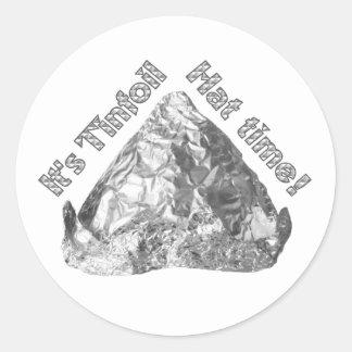 Tinfoil Hat Time Sticker