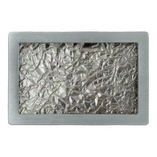 Tinfoil /Silver paper Rectangular Belt Buckle