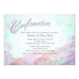 Tinge of Colors Confirmation Invitation