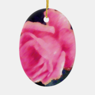 Tinged Pink Fragments.jpg Ceramic Oval Ornament