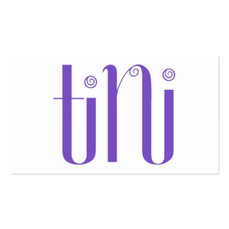 Tini purple Business Card