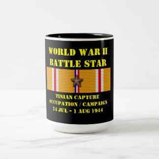 Tinian Capture & Occupation Campaign Two-Tone Coffee Mug