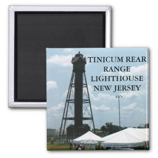 Tinicum Rear Range Lighthouse, New Jersey 2 Inch Square Magnet
