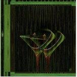 Tinis para el arte de Martini de dos Faery Escultura Fotografica