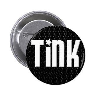 Tink Button - Black Stars