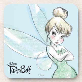 Tinker Bell | Arms Crossed Pastel Coaster