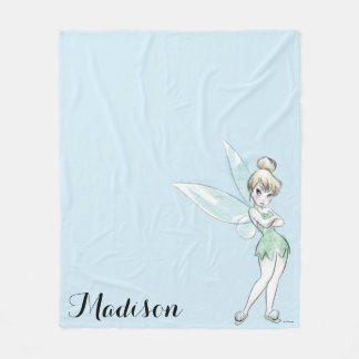 Tinker Bell | Arms Crossed Pastel Fleece Blanket