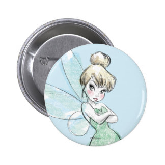 Tinker Bell | Arms Crossed Pastel Pinback Button
