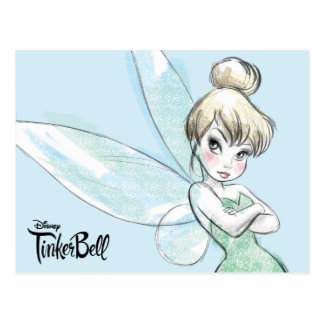 Tinker Bell | Arms Crossed Pastel Postcard