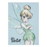 Tinker Bell | Arms Crossed Pastel Poster