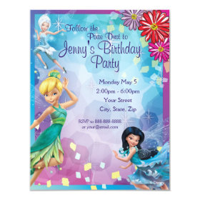 Tinker Bell Birthday Invitation 4.25