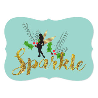 Tinker Bell Christmas with Family Photos Card